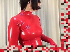 latex undressing